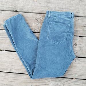 Loft modern skinny teal corduroy pants